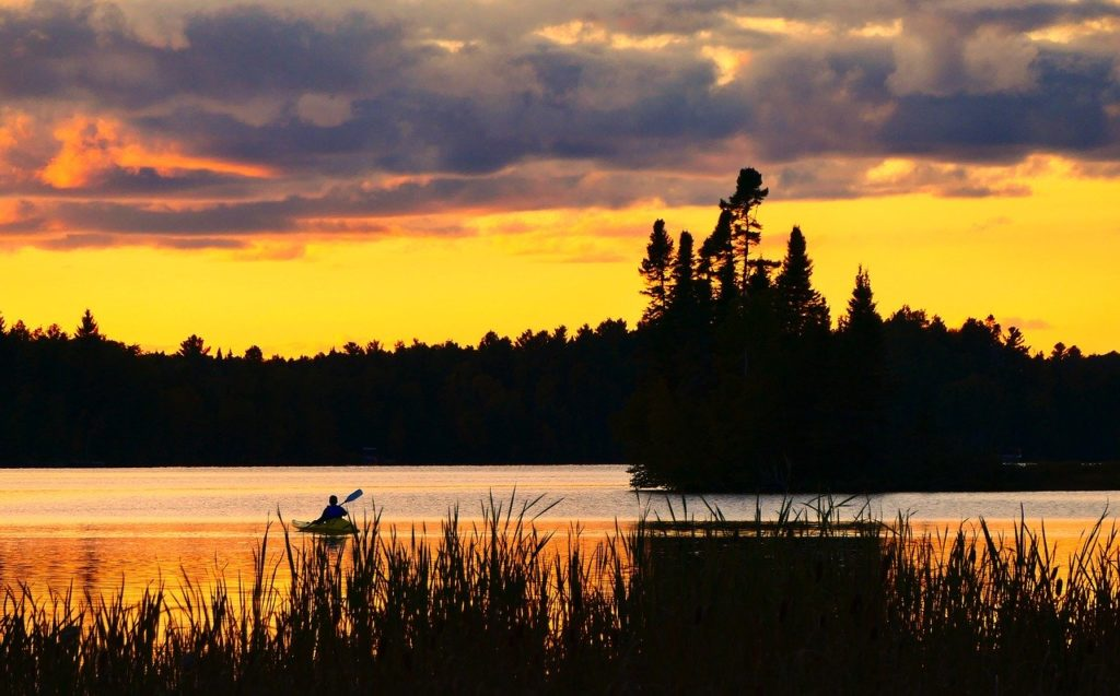 kayak, nature, landscape