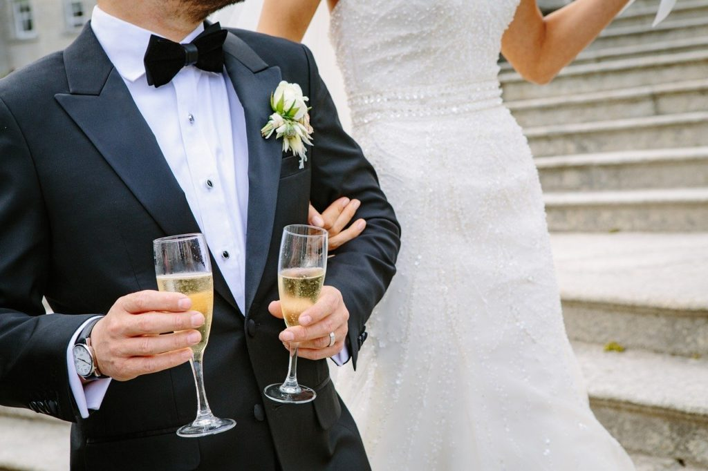 champagne, mariage