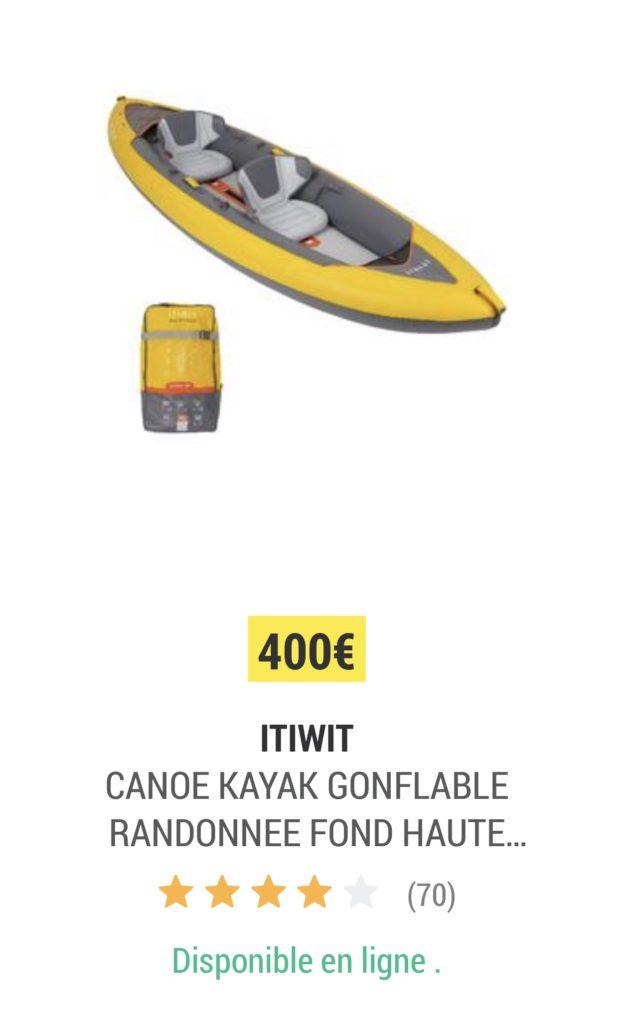 Kayak Gonflable Itiwit X100 De Decathlon Prix Test Et Avis