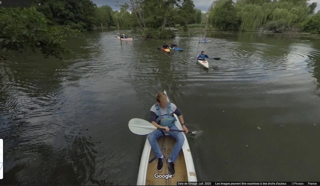 canoë kayak hortillonnages Amiens Google Street View