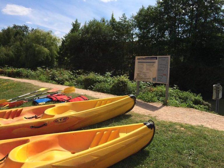 cale canoe kayak pont authou risle