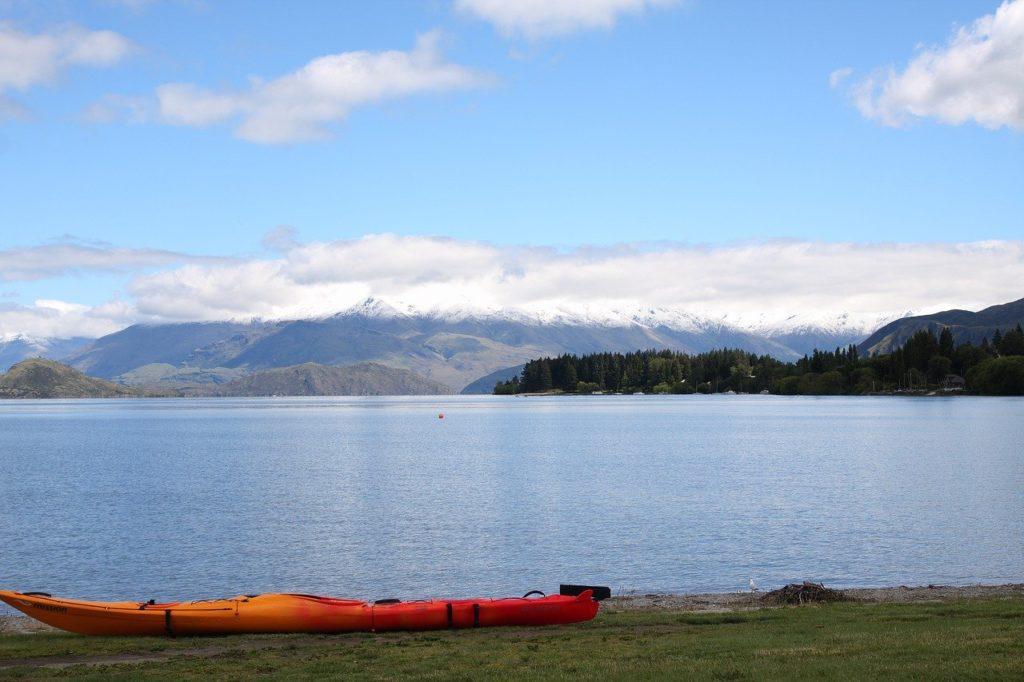 lake, canoë-kayak, wanaka, new zealand