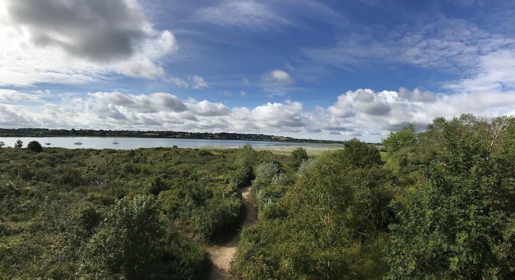 Vue estuaire depuis observatoire