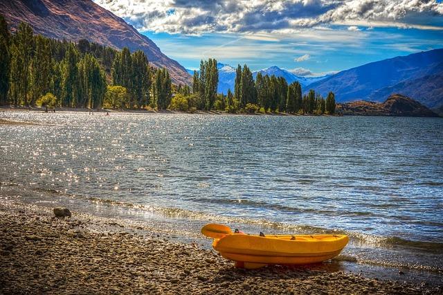 lake, wanaka, canoe, kayak