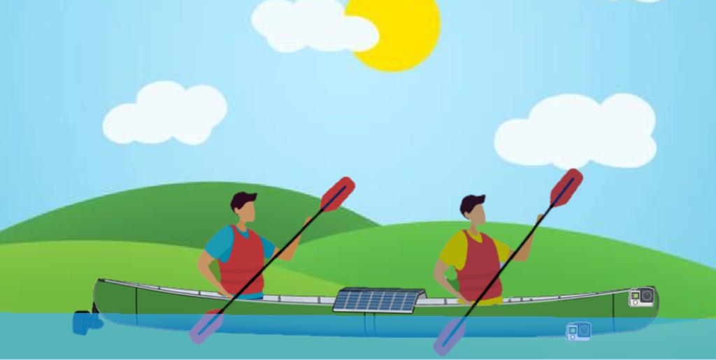 Canoe kayak solaire