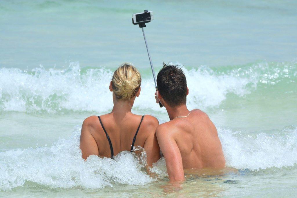 selfie, mer, canoe, kayak
