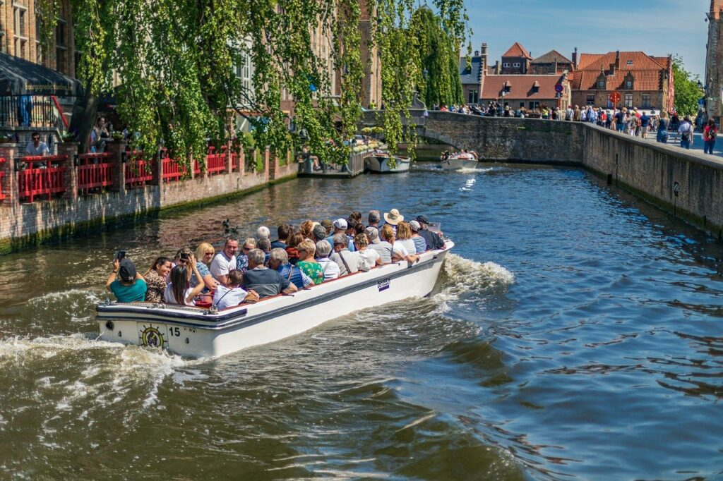 bateau canaux Bruges
